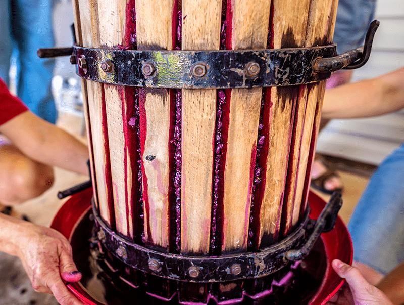 Wine Press Basket Close Up