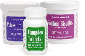 Sodium Metabisulfite, Potassium Metabisulfite and Campden Tablets