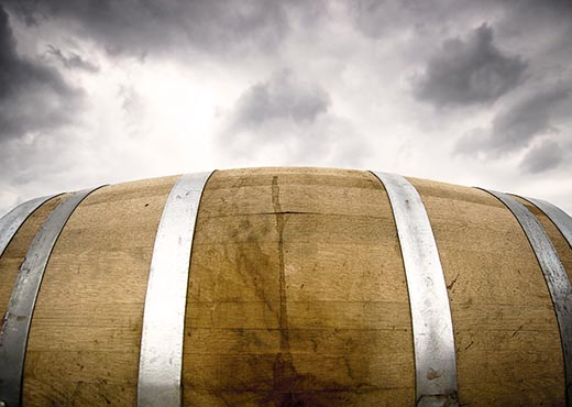 Wine Barrel With Barrel-Aging.
