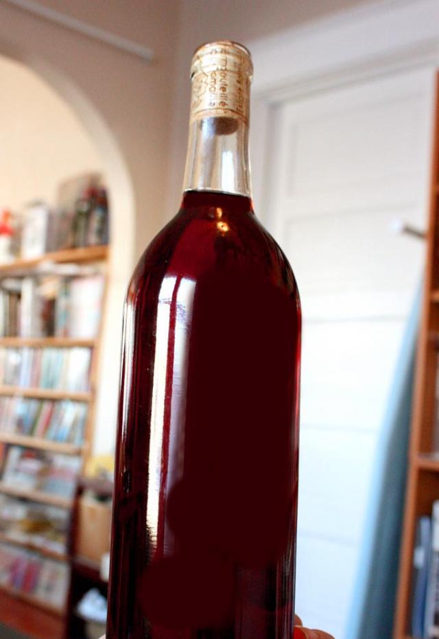 Bottle of Homemade Wine