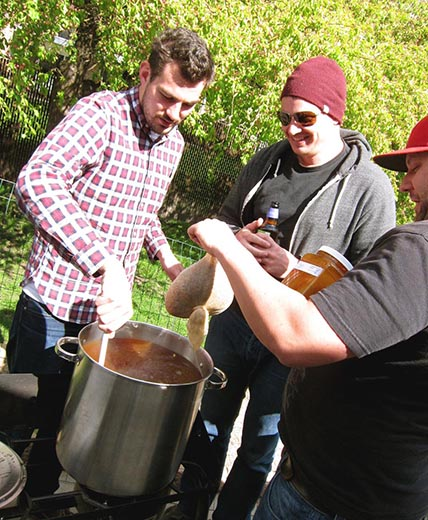 Guys Using Home Brewing Equipment That's Saving Them Time
