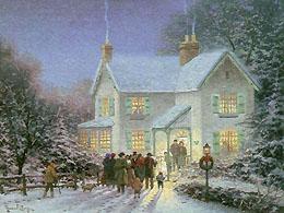 Christmas Carolers Drinking Wassail