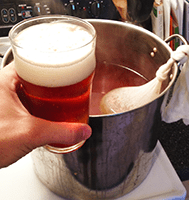 Enjoying A Brew While Brewing