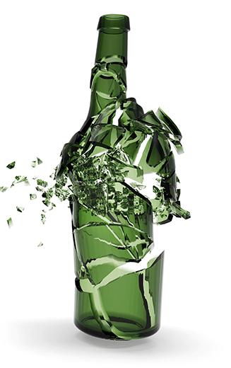 A Wine Bottle Exploding
