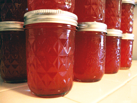 Fruit Juice In Canning Jars