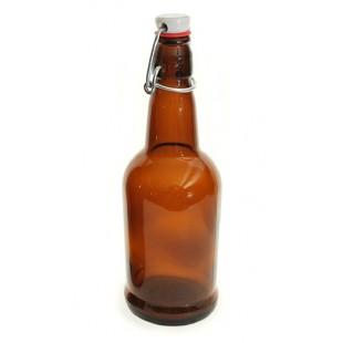 EZ-Cap Beer Bottles: Amber / 16 oz
