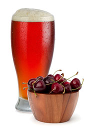Glass Of Cherry With Bowl Of Cherries