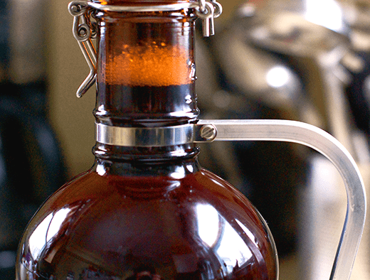 Growler Filled With Homebrew Beer