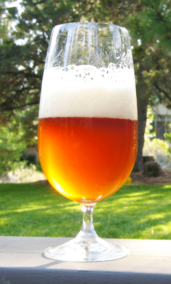 Imperial IPA made from a homebrew beer recipe