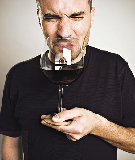 Man With Wine That's Been Spoiling.