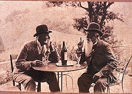 Two Men Discussing Wine
