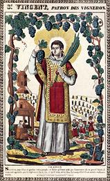 St. Vincent Patron Saint Of Wine Makers