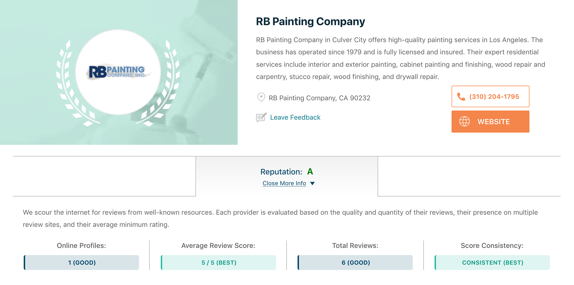 RB Painting voted best in LA