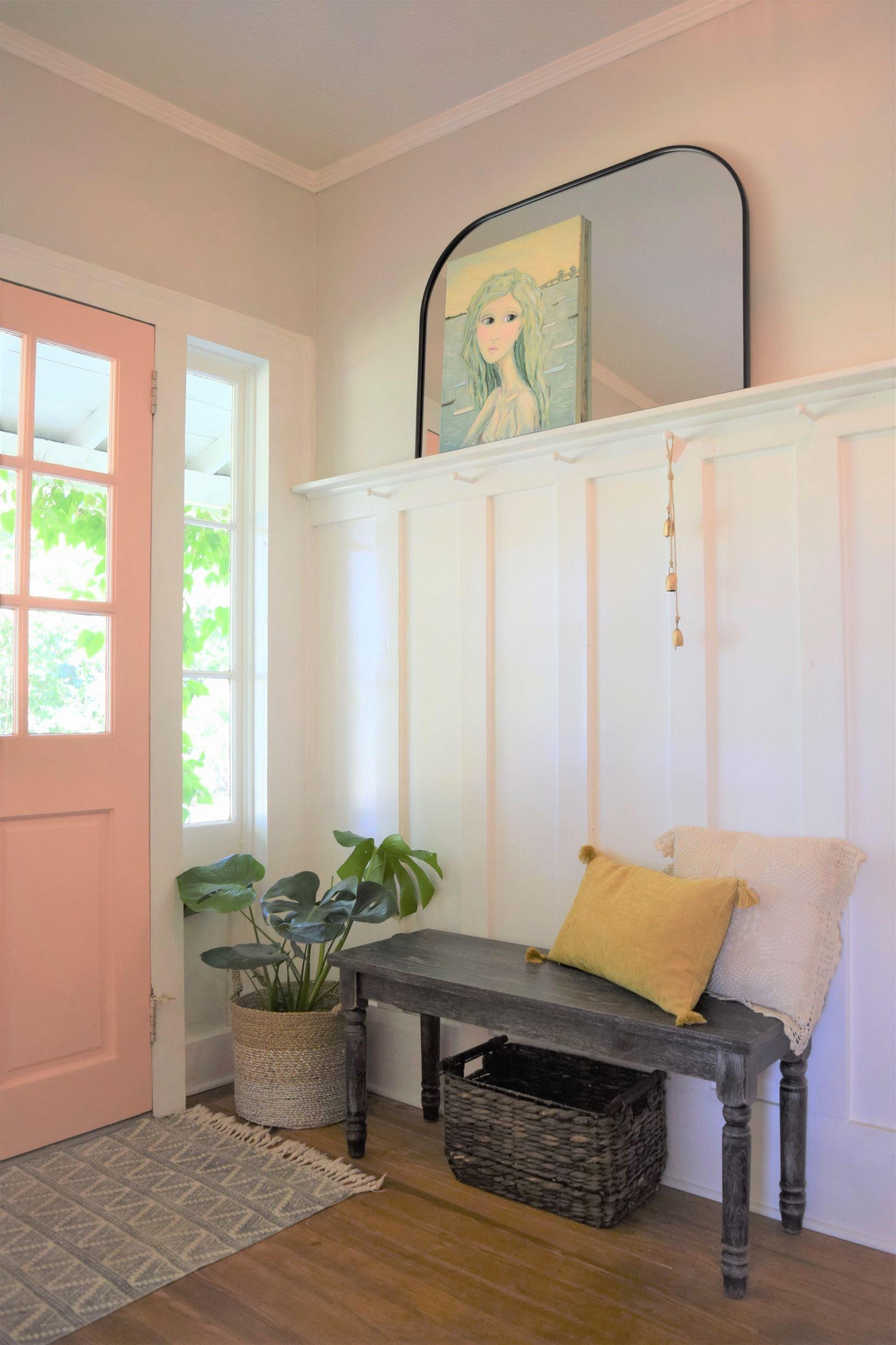 A Fresh DIY Farmhouse Foyer Renovation