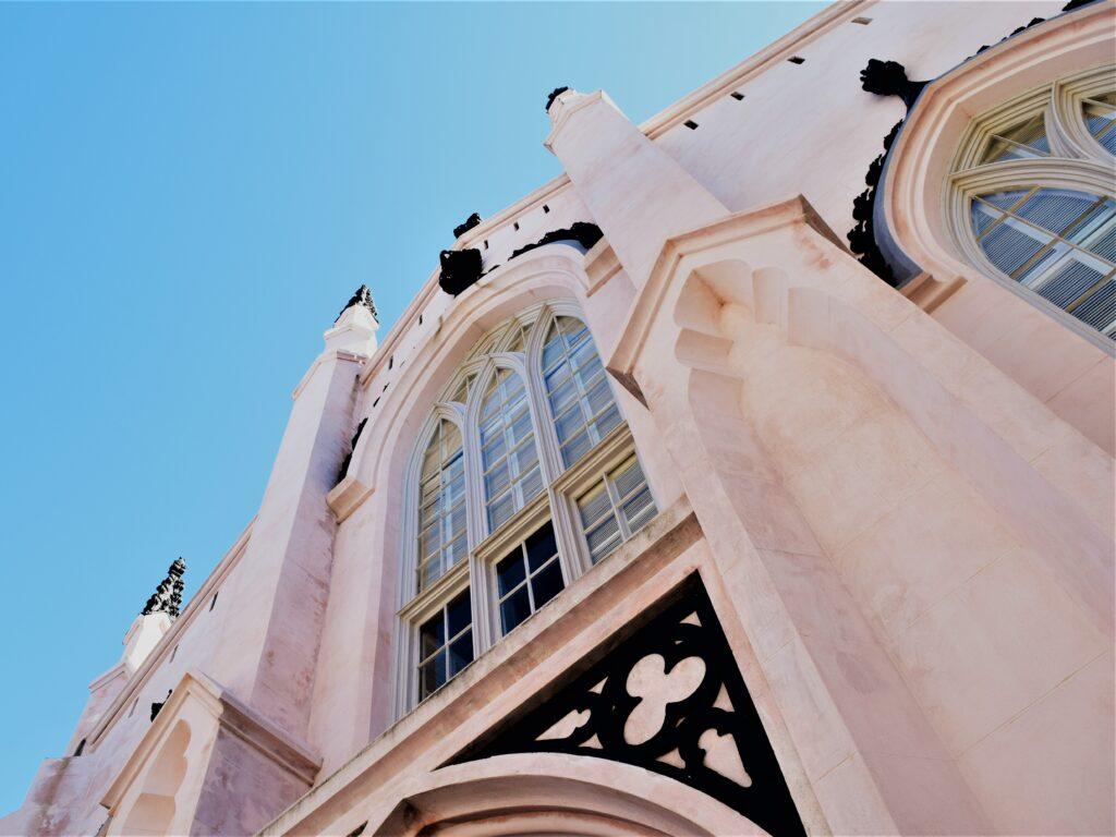 charleston south carolina southern pink church blue sky historic travel