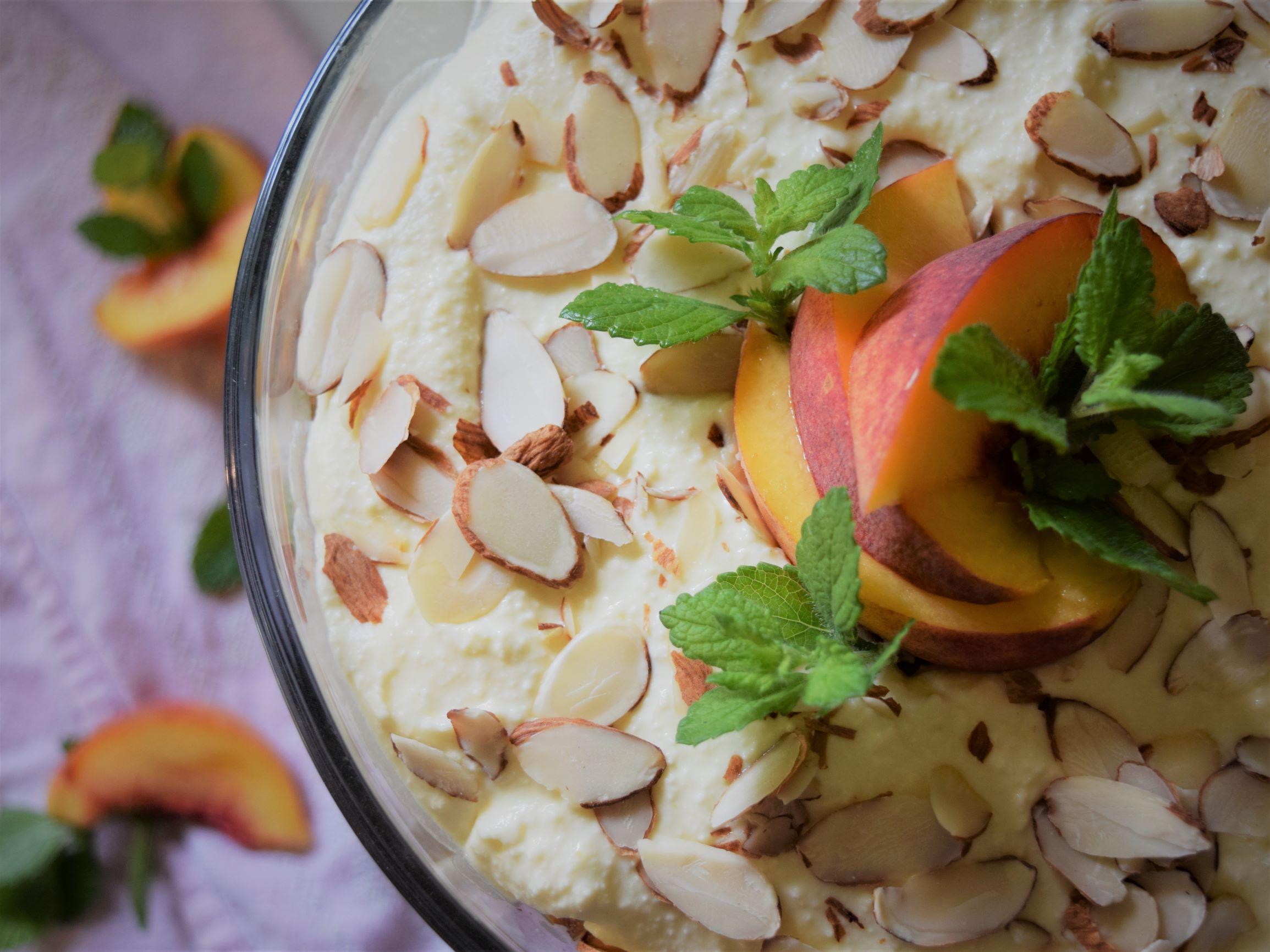 cold peach summer dessert