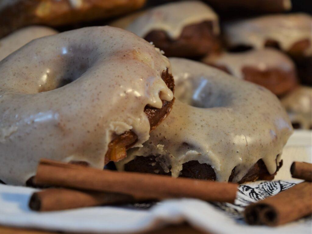 apple cider donuts fall dessert cinnamon stick recipe spiced glazed fried cozy homemade baking