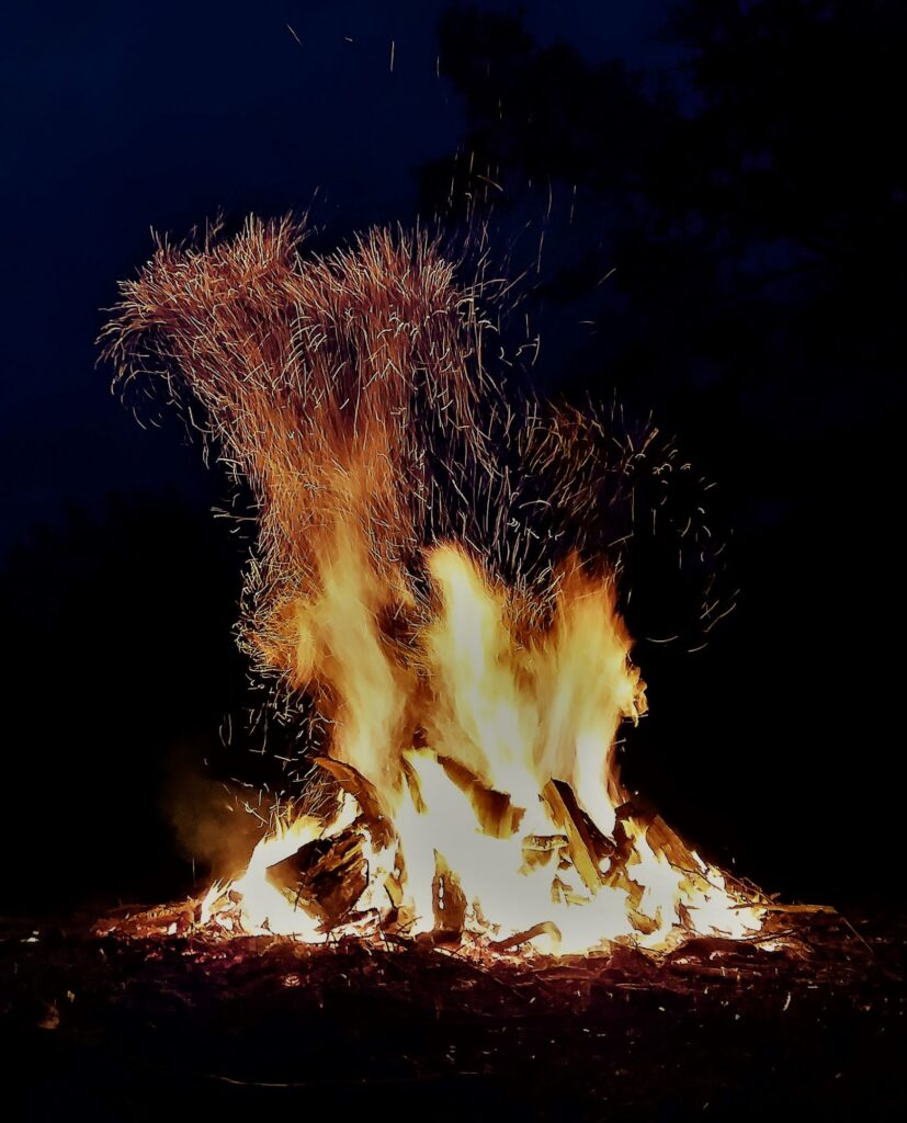 welcome fall all things new bonfire cozy night sky wild flames gather around