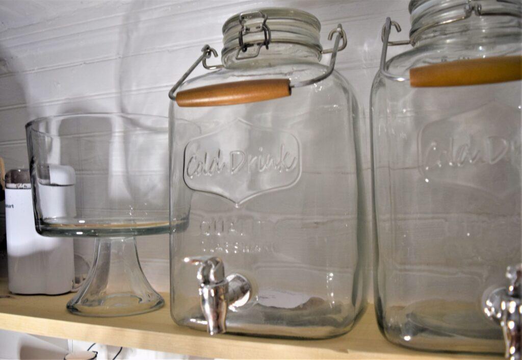 small farmhouse pantry organization black white wood tiny labels jars