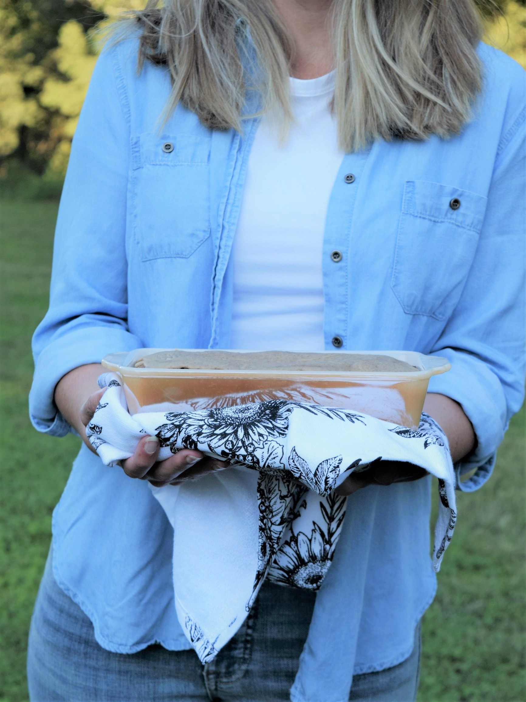 vanilla chai pear bread blue girl holding fire king flower towel blonde chambray moody fall cozy