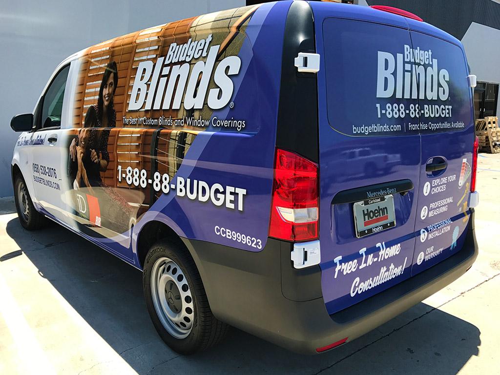 Budget Blinds Vehicle Wrap