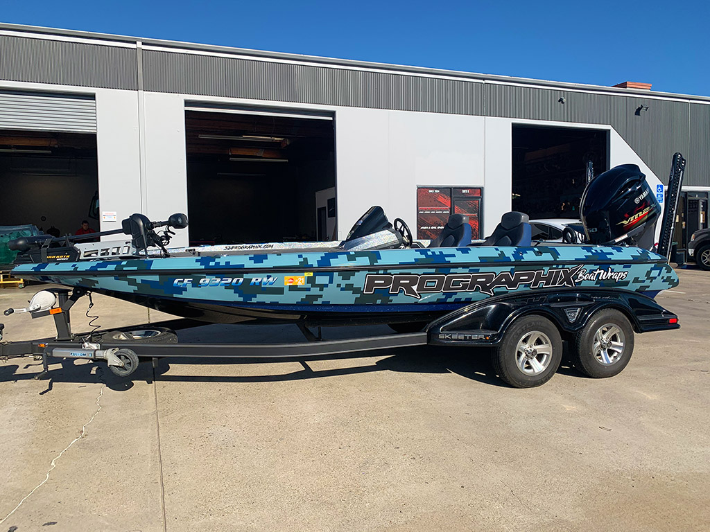 Bass Fishing Boat Wrap