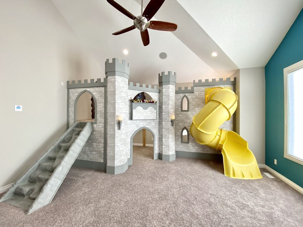 Completed Play-loft Castle -painted by our amazing client!