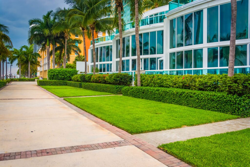 commercial yard lawn maintenance service