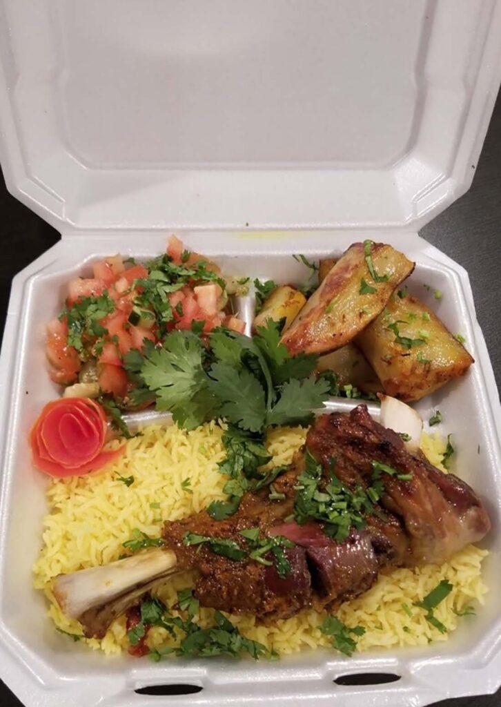 Rockin Moroccan's lamb shank platter