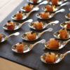 Caterers are often presenting appetizers in safe single servings.