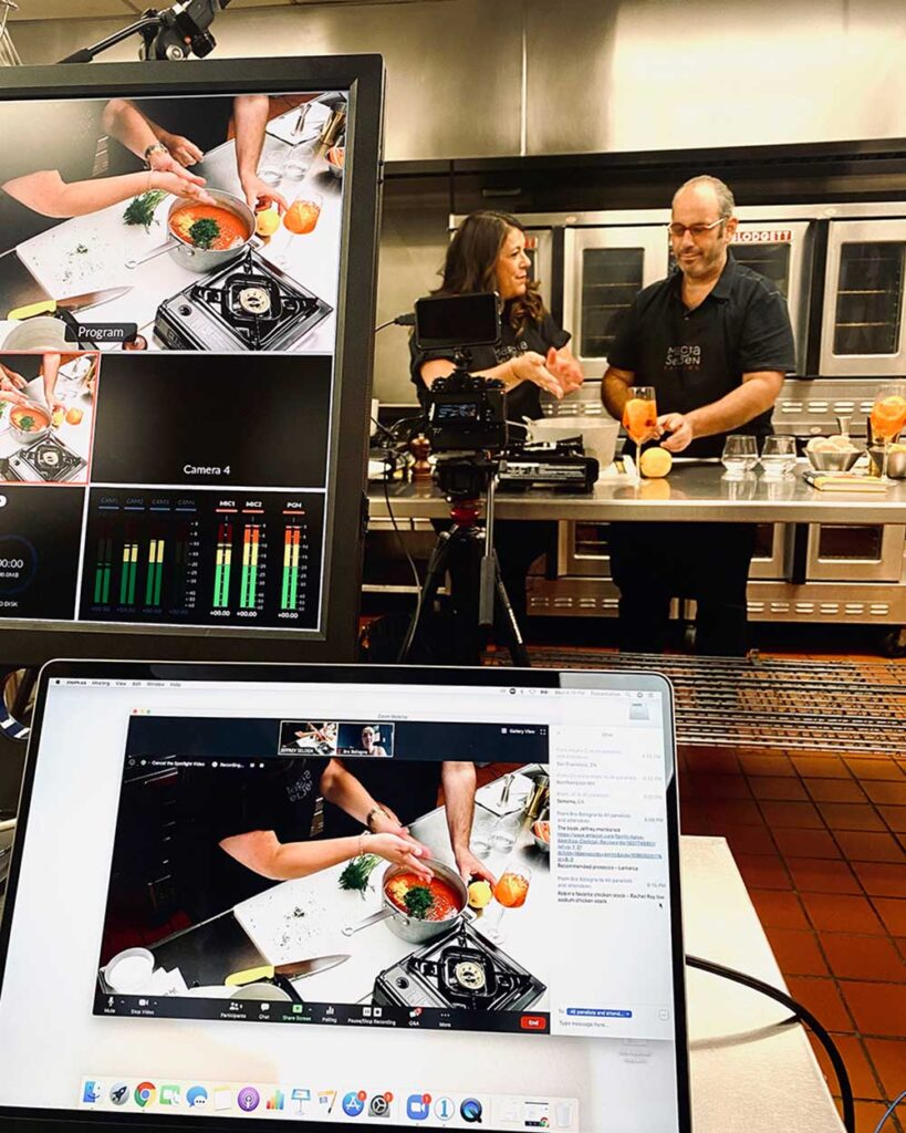 A virtual cooking class with Robin and Jeffrey Selden. Photo by Andreas & Nico Photography
