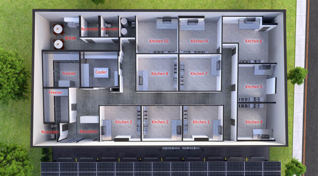 ChefReady features 10 individual kitchen spaces.