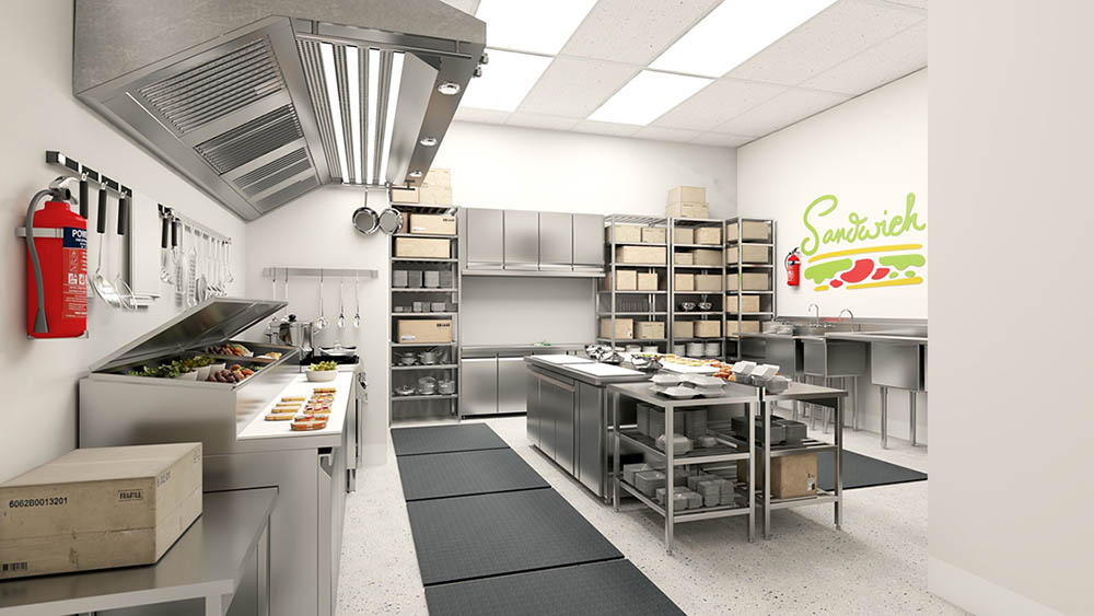 ChefReady provides kitchen architects to help tenants customize their kitchens.