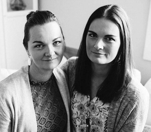 Dana Kadwell, right, with sister Courtney Hopper