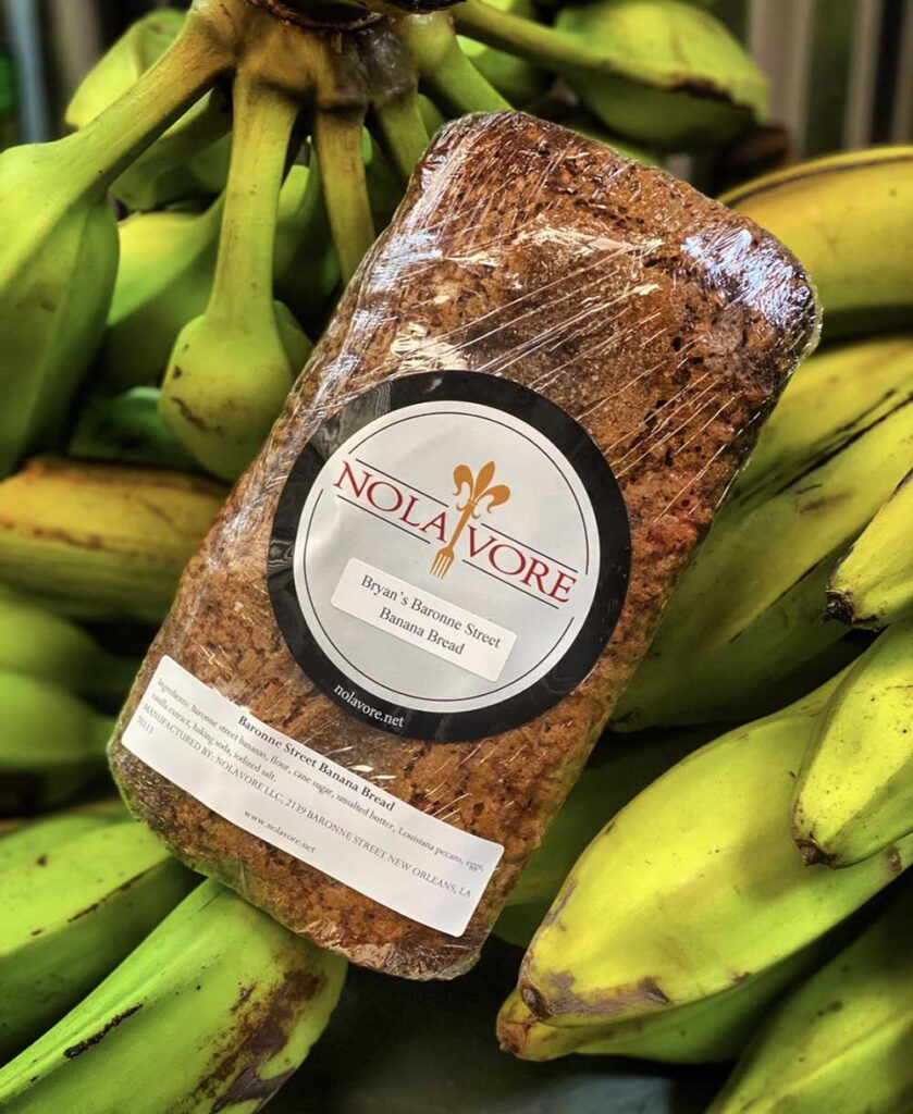 Customers rave about Nolavore's banana bread.