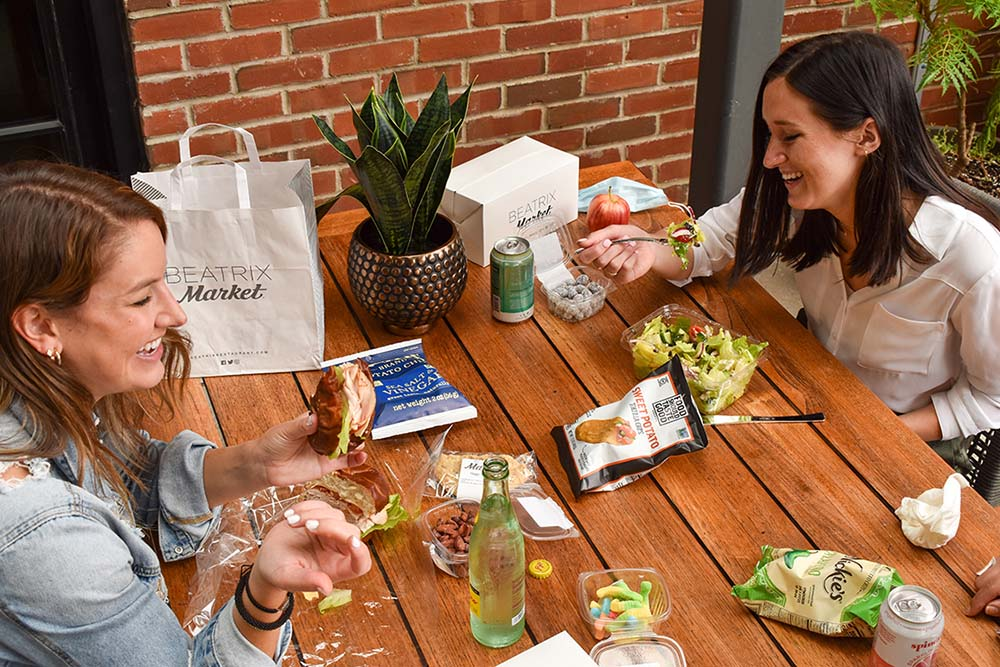 Beatrix Market offers customizable grab-and-go lunchboxes to corporate clients.