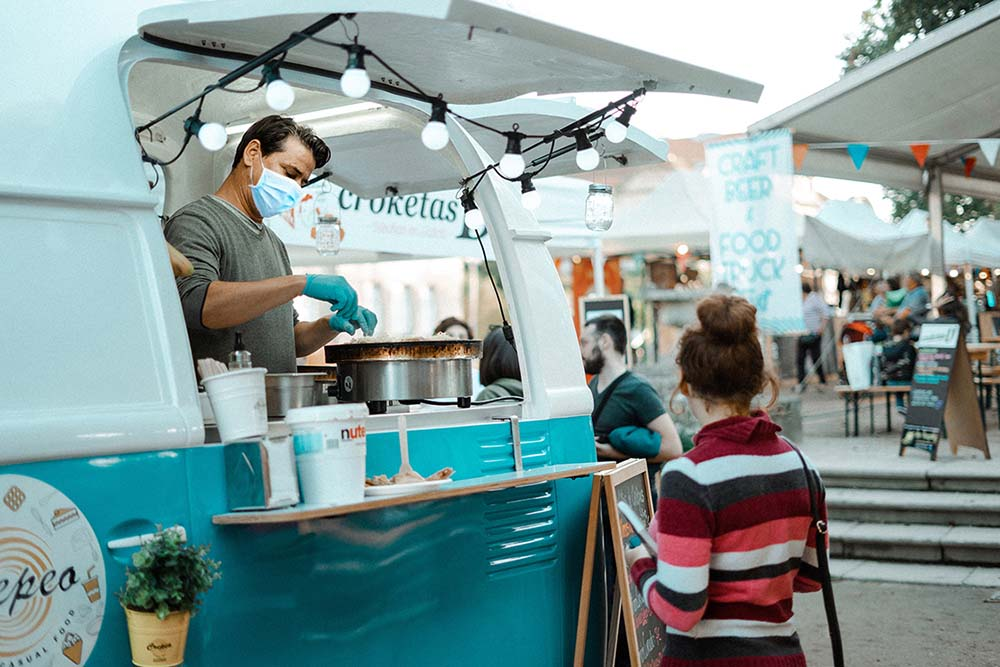 Customers of Roaming Hunger, a booking marketplace for food trucks, are still looking for COVID-safe foodservice options.