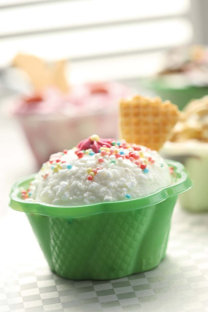 Ice cream cups from Welcome Home Brands are 100% biodegradable