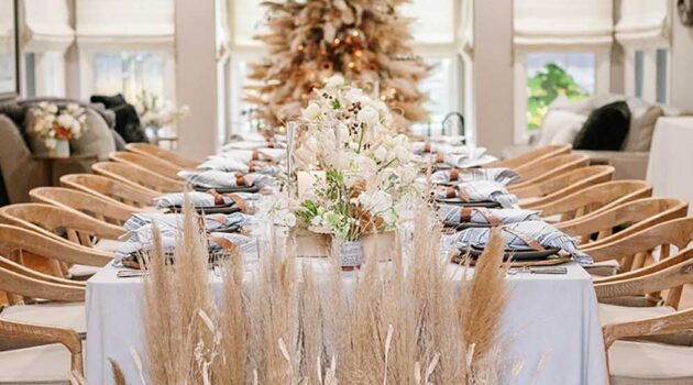 Meghan Murray of Parker Grace Events incorporated elements inspired by Ukrainian traditions for a dinner party celebrating a Ukrainian Christmas. Photo by Adriana Klas