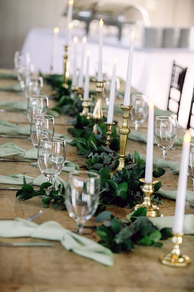 Vintage touches on holiday tablescapes add interest, says Kevin Dennis, owner of Fantasy Sound Event Services. Photo by Amy Kolo