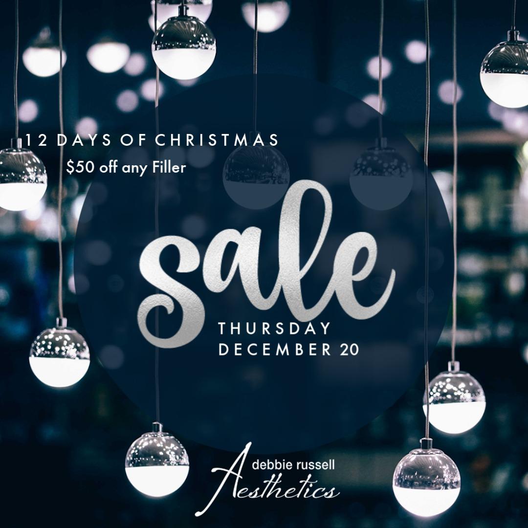 12 Days of Christmas: Thursday December 20 - $50 Off Any Filler