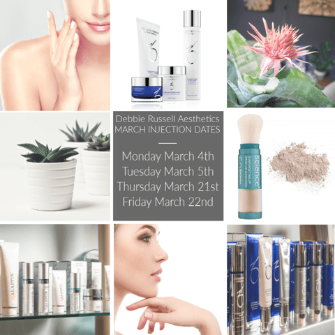 March 2019 Debbie Russell Aesthetics Injection Days