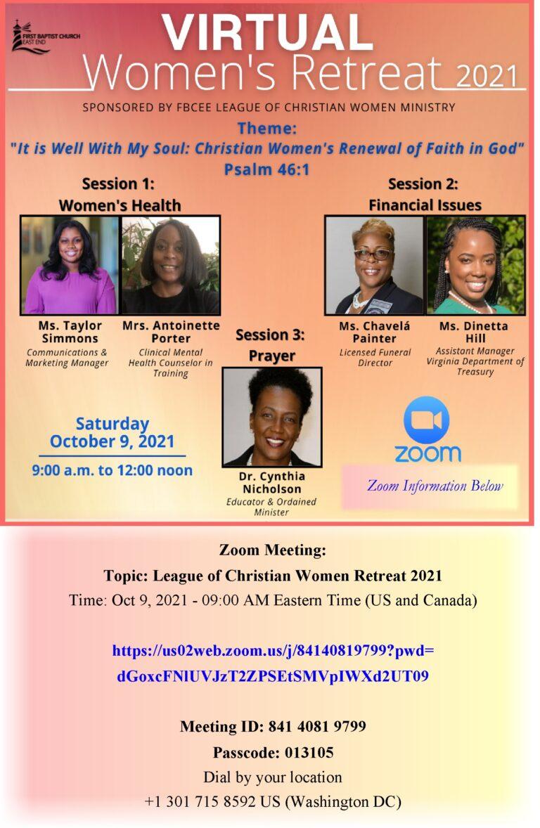 Women's Retreat Flyer Poster