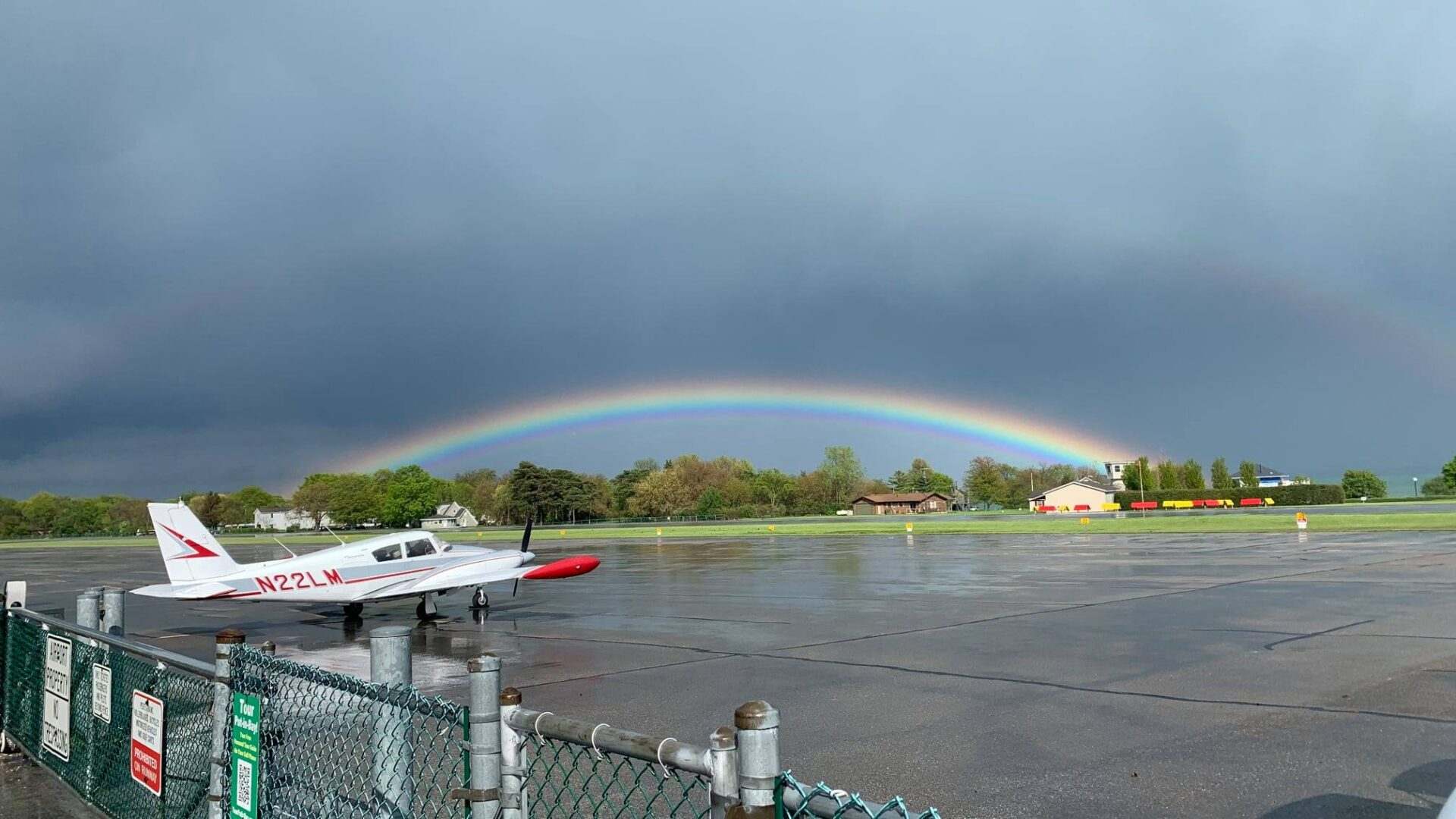 PIB Airport with Rainbow