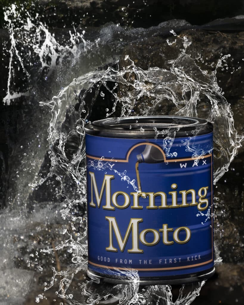 Morning moto can-Hole thing with water(8x10)