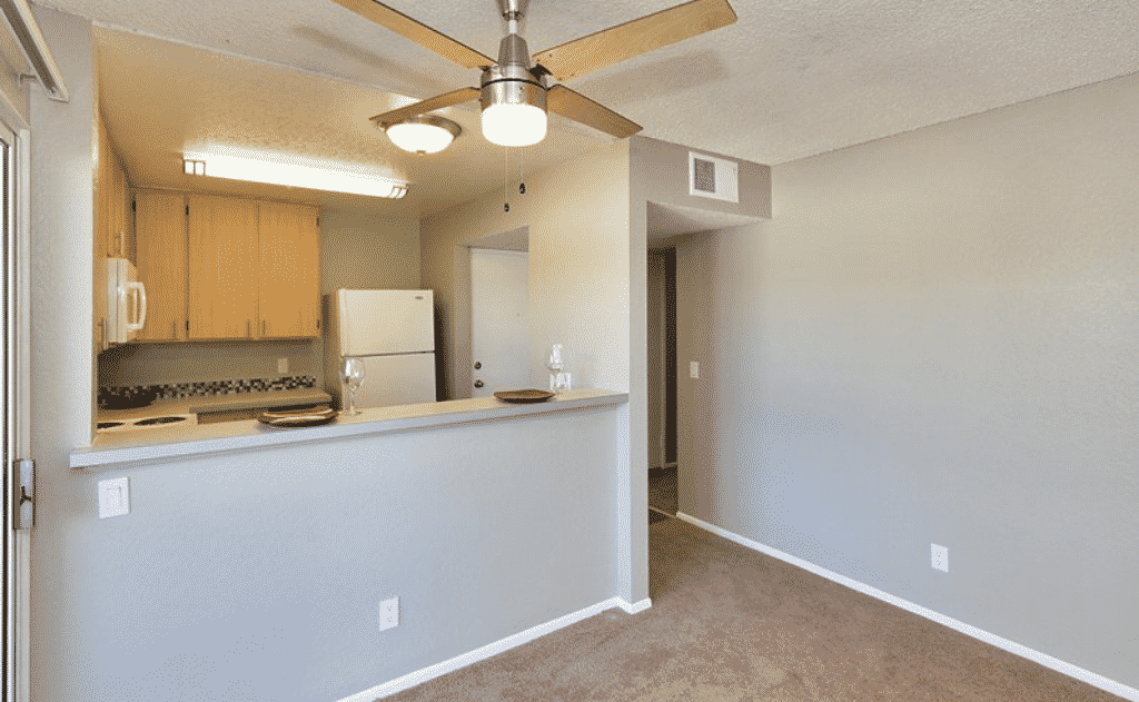 Empty Kitchen  with ceiling fan