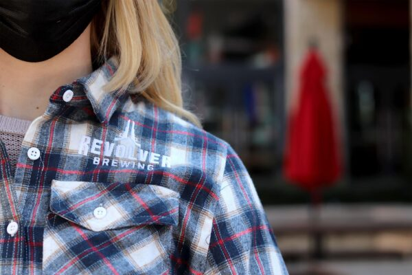 Flannel womens white red