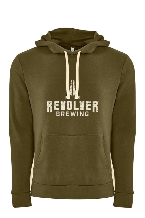 Pullover Hoodie Military Green revolver brewery