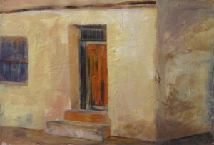 """Historic Doors no. 10 acrylic on paper 16"""" x 23"""" (unframed) SOLD"""