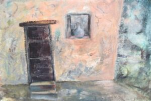 """Historic Doors no. 6 acrylic on paper 23"""" X 30.5"""" (framed) SOLD"""